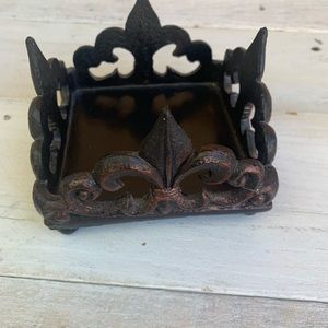 Set of 2 Wooden Carved candle holders